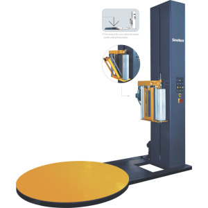 Semi-auto turntable pallet stretch film wrapping machine