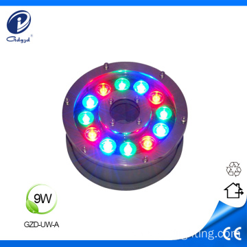 Color changeable 9W outdoor led underwater lights