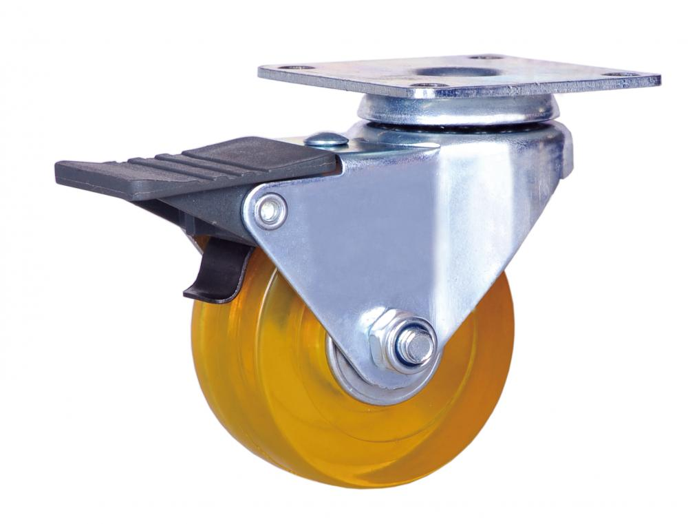 2 inch brake caster with PVC wheel