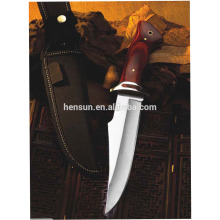 Stainless Steel Hunting Knife with Red Sandalwood