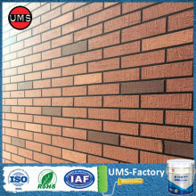 Spray paint the brick wall pattern