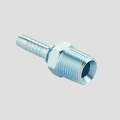 BSPT thread straight hydraulic hose end fitting
