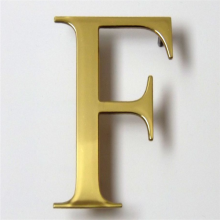 Outdoor Custom Made Brass Channel Letters