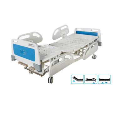 Manual three crank medical bed