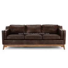 Worthington Oxford Brown Leather Sofa