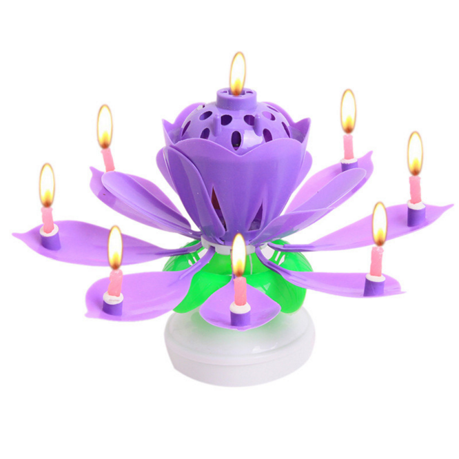 Rotated Flower Candle