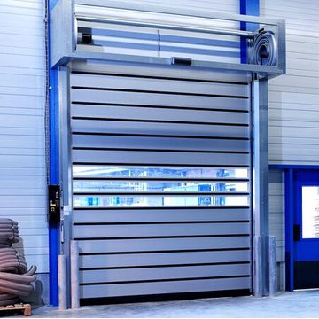 2018 Secure Aluminium High Speed ​​Hard Metal Door