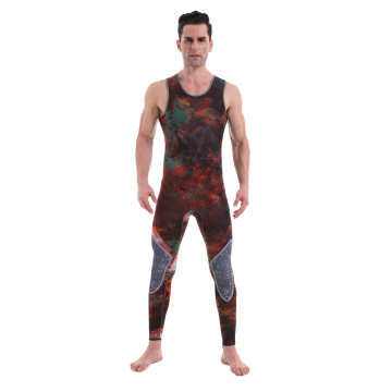 Seaskin Camouflage jacket long john spearfishing wetsuit