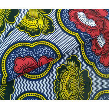 Fashionable Novel Patterns Cotton Wax Printed Fabric