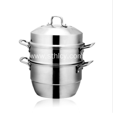 High Quality Stainless Steel Steamer Pot 26-32CM