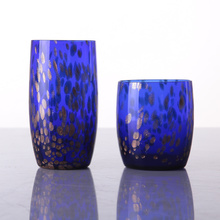 Wholesale Glitter Blue Colored Highball Glass
