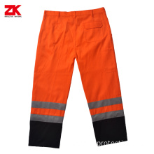 Safety pants with reflective tape