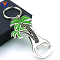 Metal custom coconut tree beer bottle opener keychain