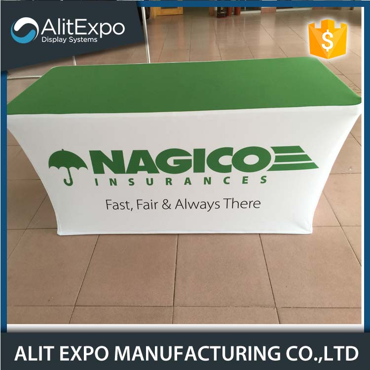 Trade show rectangule polyester table cover