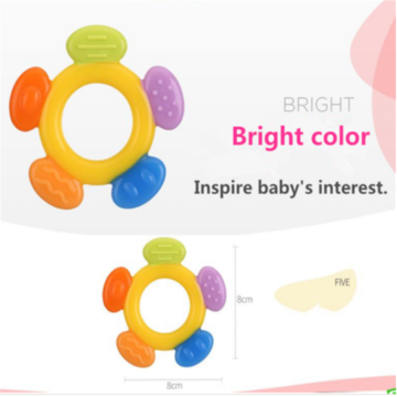 Safety Infant Teething Toy BPA Free Silicone Teether