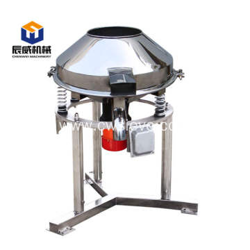 High frequency rotary vibrating screen for powder