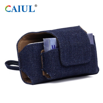 Low MOQ for IQOS Electronic Cigarette Case,Electronic Cigarette Wallet Case,Electronic Cigarette Case Manufacturers and Suppliers in China Denim Carrying Bag for IQOS Electronic Cigarette supply to United States Importers