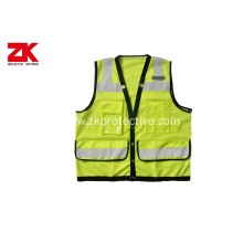 Summer roadway reflective garment with reflective tapes