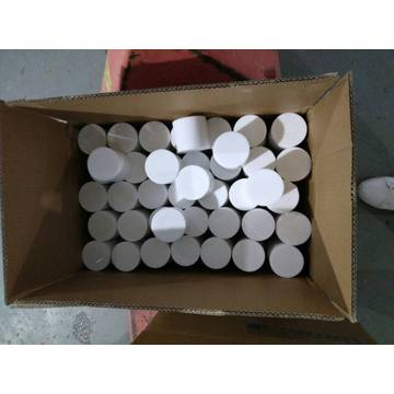 Straight White cutting PTFE Bars