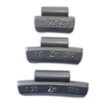 Zinc Clip-on Weight for Aluminum Wheel Ounce