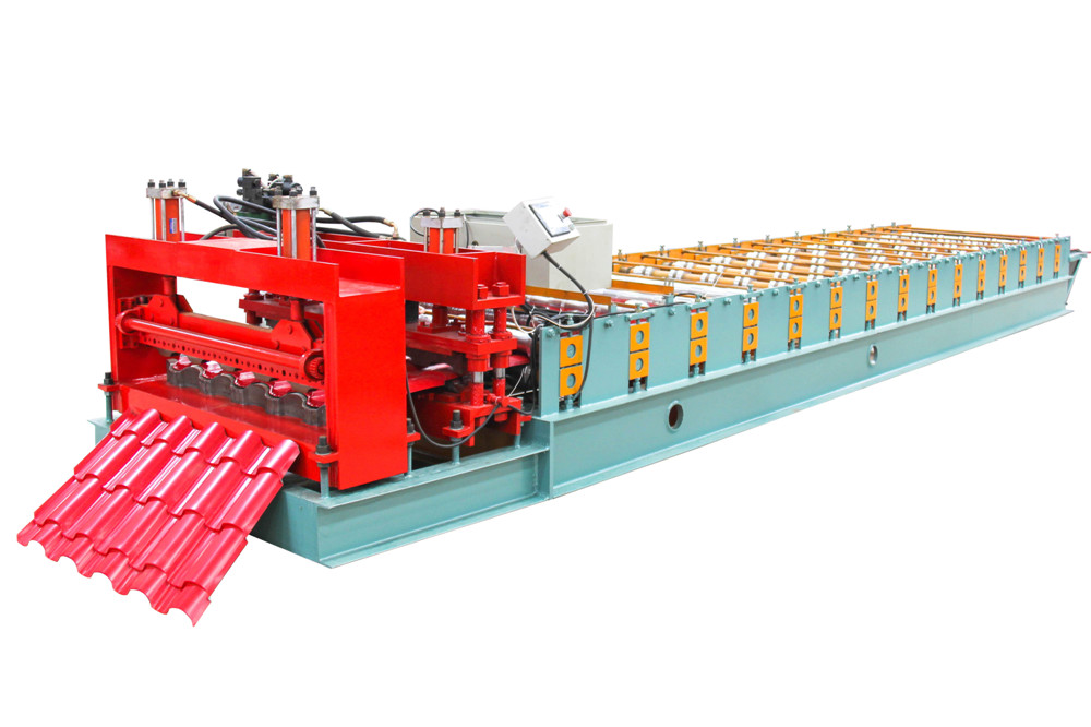 Red Glazed Tile Sheet Roll Forming Machine