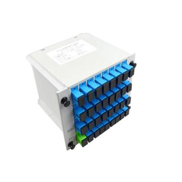 1 4 8 16 Rack Mounted PLC LGX Type Optical Fiber Splitter