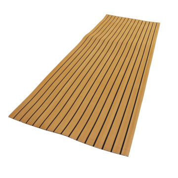 Light Teak & Black Marine EVA Boat Flooring
