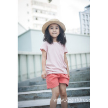 Factory Price for Cotton Linen Blend Girls T-Shirt 100% Cotton Unisex Kids Clothes T-Shirt for Summer supply to Nigeria Factory