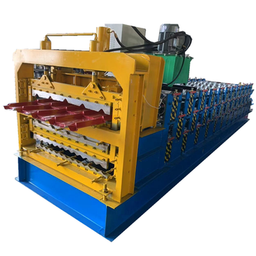 Three layer steel roof making machine