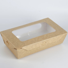 10 Years for Paper Meal Box Kraft Food Packaging Paper Box With Window export to Spain Importers