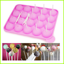 New Fashion Design for Silicone Ice Pop Molds 20 Holes Silicone Wedding Cake Pop Mold export to Zambia Factory