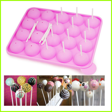 20 Holes Silicone Wedding Cake Pop Mold