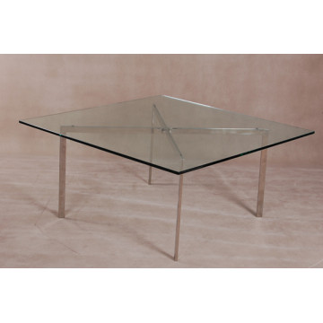 Cheap for Modern Round Coffee Table Tempered glass top Barcelona Coffee Table export to France Exporter