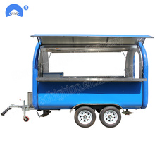 Double Service Snack Machine Moible Thực phẩm Trailer
