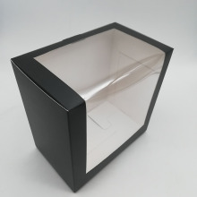 Custom Black Cap Paper Gift Box With Window