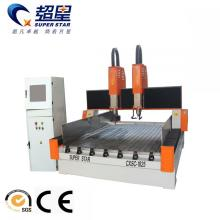 Factory directly provided for Double-Head Cnc Router Spindle power 5.5KW*2 double head stone engraving export to Turks and Caicos Islands Manufacturers