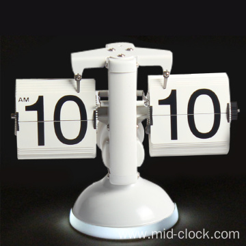 Retro desk clock with sounds controlled light