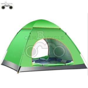 double door yellow camping tent for 3-4 person