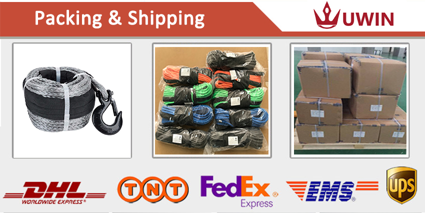 winch rope packing shipping