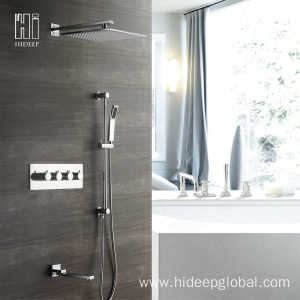 20 Years manufacturer for Bathroom Thermostatic Shower Faucet HIDEEP Bathroom Shower Thermostatic Bath Shower Faucet export to Japan Exporter