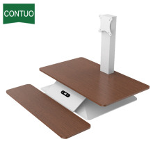 Good quality 100% for Computer Standing Desk Best Adjustable Sit Stand Up Desk Monitor Converter export to Qatar Factory