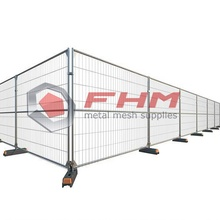Galvanized Temporary Fence for Blocks