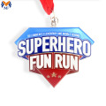 Custom metal running superhero medals