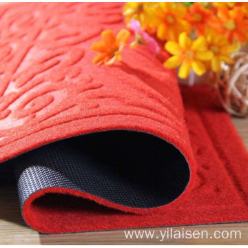 Washable dust proof velour embossed carpet