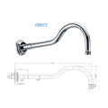 Circular Classical Curved Shower Arm