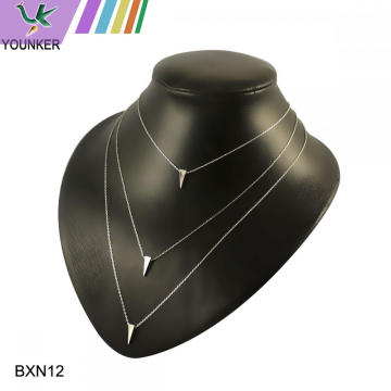 women simple necklace three layers necklace