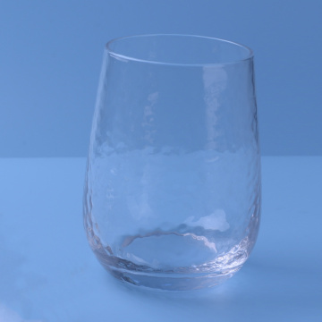 Hammered Pattern Bathroom Glass Cup Tumbler