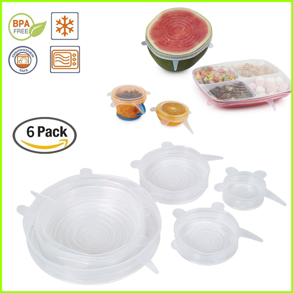 Set Of 6 Food Grade Silicone Bowl Lid