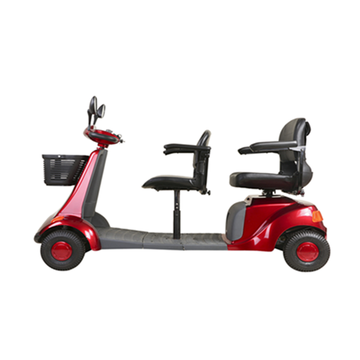 Luxury 4-wheel Front and rear seat scooter