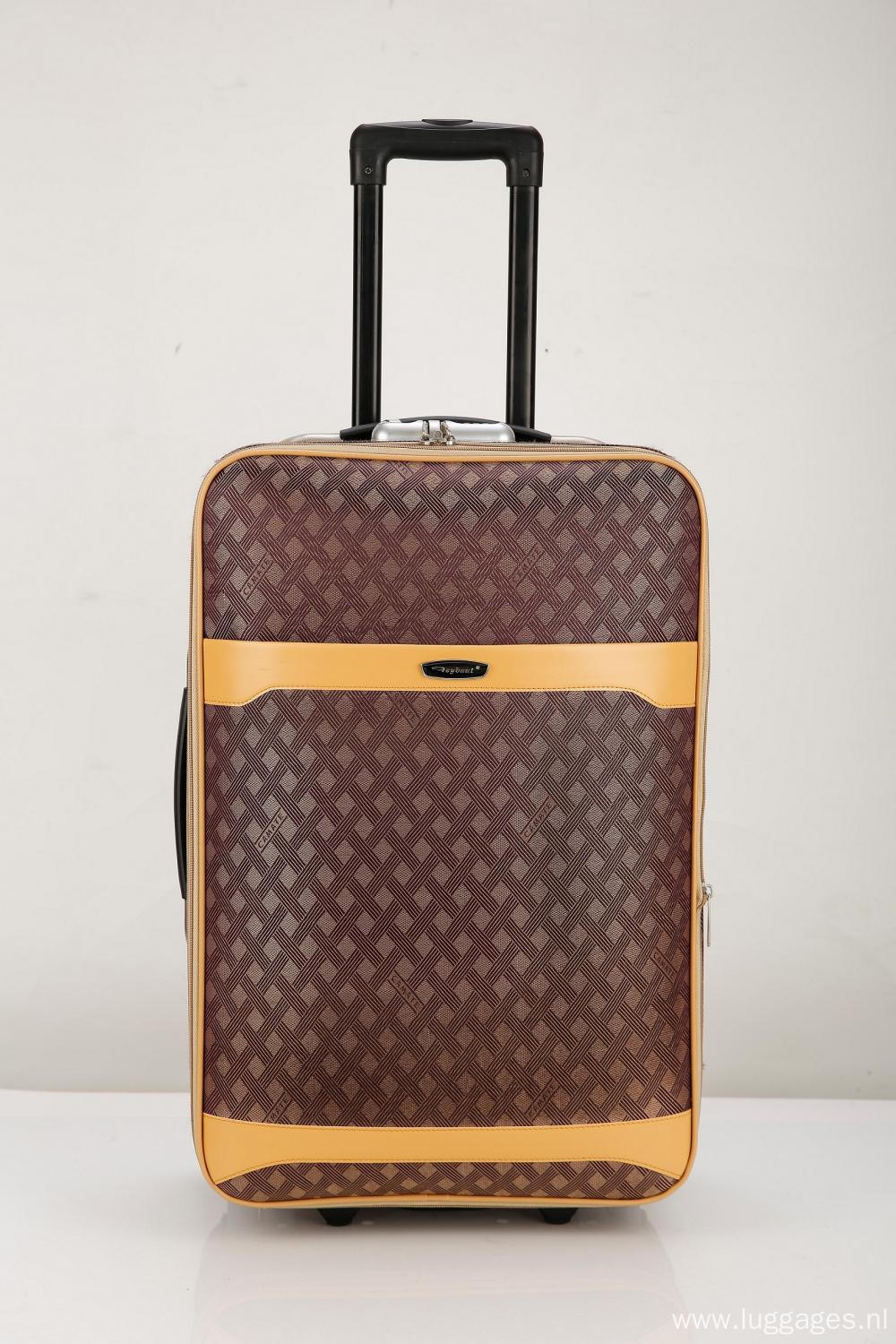 PU trim fashional EVA luggage